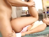 Young asian gets fucked in public